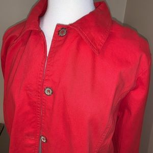Red Light Weight 💯% cotton Jacket by Tudor Court